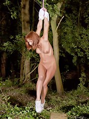 Red haired chick captured, used, manhandled, taken down ..